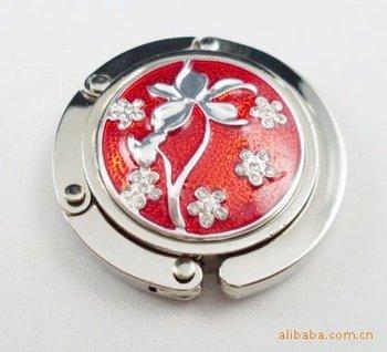 Free shipping mix and match foldable handbag hook ladies' gift wholesale wedding gift acrylic purse holder wedding gift