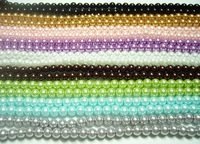 Free Shipping 5pcs/Lot Loose Lampwork Glass Pearl Round Beads For DIY Craft Jewelry 6mm Mix colors MP0