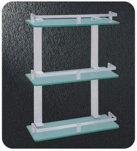 Nível Triplo rack de vidro , alumínio aeroespacial Shower Rack, peça A3350,1 / lote , frete grátis(China (Mainland))