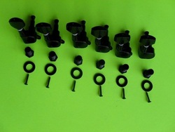 free shipping 6R Black guitar tuning pegs machince heads(China (Mainland))