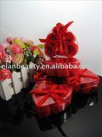 Flower Rose Soap,hand made flower soap (6 rose /1box. 600 Rose/lot) Free Shipping