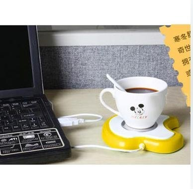 10pcs/lot USB warmer Plate Hot Electric Insulation Dish Apple Shape. Save energy. Easy to use free shipping(China (Mainland))