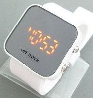 Free shipping 2pcs/lot LED Watch  Mirror watches electronic watch movement