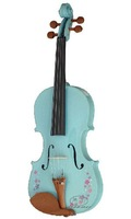 SFLVN-2 colorful violin, with  spruce top, marple back and sides, solid figerboard and pegs