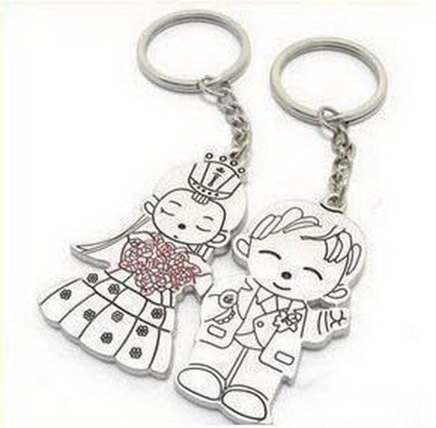 key8888-8 free shipping 12pairs/lot lovely fashion couple lovely key chains keychain key rings best for (many styles)(China (Mainland))