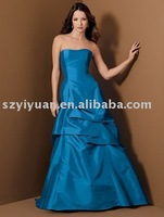 2011 new style blue long evening dress YY-517A