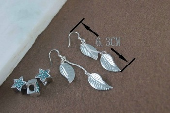 Hot!Free Shipping wholesale 925 sterling silver earring E59