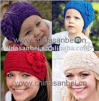 Handmade knitted Headbands crochet Flower headwrap new style headwear mix color 500pcs
