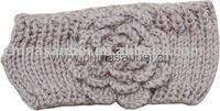 Handmade knit headwrap headdress crochet Flower headbands