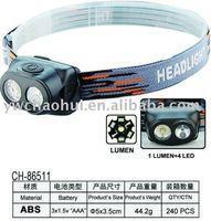 1 LUMEN +4 LED ABS headlight high power headlamp CH-86511
