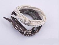 European Style Leather Bracelet, Fashion Leather Bangle