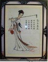 Cross-Stitch Lin Daiyu Buries Fallen Flowers cross stitch KITS