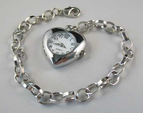 Heart watch bracelet Chain Bracelet Charm bracelet(China (Mainland))