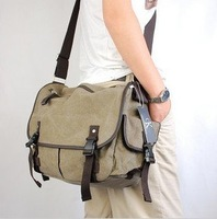 free shipping Special 2011ultra-practical ,canvas bag,  M package/Shoulder Messenger bag/student bag /leisure bag.khaki