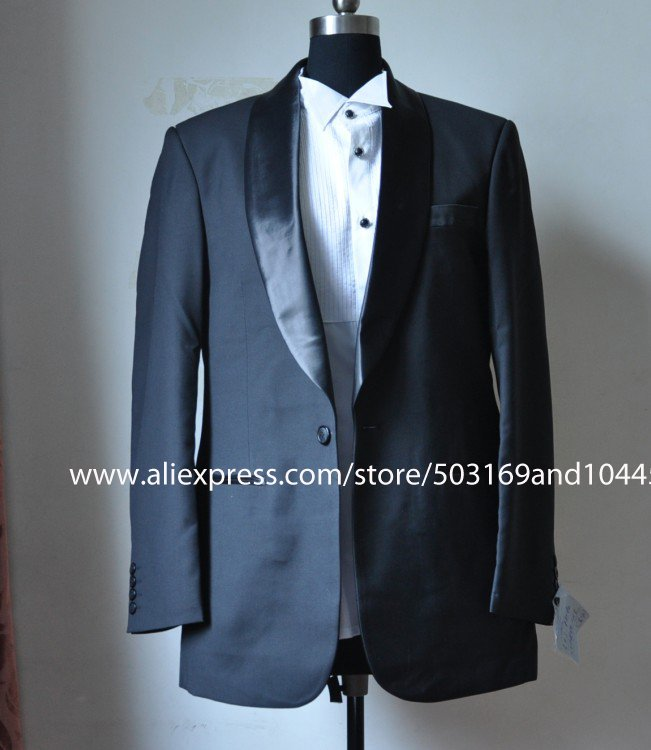 Hot Sale one Button sides-vented Wool suit / Tuxedo/ Men's Suit Jacket and Pants(China (Mainland))