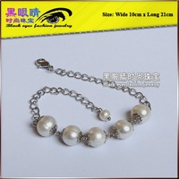 Free shippin+Wholesale fashion female Handmade Anklet chain Bracelet Jewellry Jewelry for Freshwater pearls