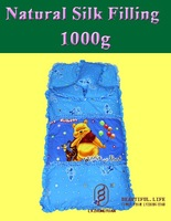 Natural silk filled baby sleeping bag sack bedding set can be as quilt or blanket