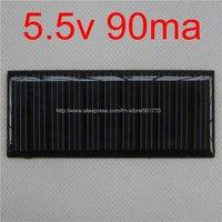 20pcs/lot mini solar panel 5.5V 90mA 0.495W solar panel solar power PCB panels fast shipping