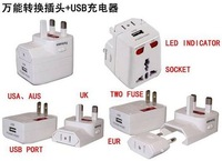 25pcs/lot Universal switching power plugs,travel switching Adaptor,USB interface Converter Plugs & Sockets,euro plugs