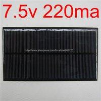35pcs/lot 7.5V 220mA 1.65W mini solar panel charge 6v battery best fast shipping
