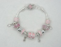 Hot!Free Shipping wholesale crystal bracelet fit charms fashion jewelry P123