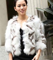 (#11-0812)free shipping fashion women's 100% genuine fox fur vest/fox fur coat/fox fur garment/retail/wholesale/different colors