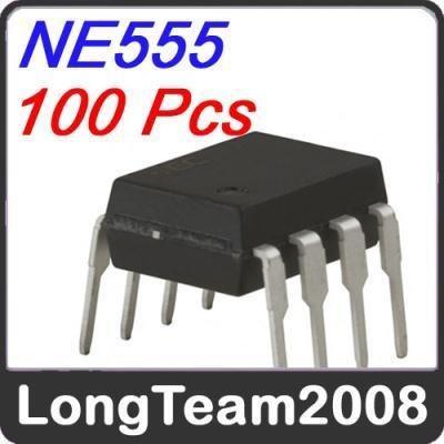 free shipping;100 Pcs New NE555 IC 555 DIP-8 Precision Timer Kit HAM and Brand new(China (Mainland))