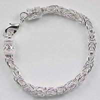 Hot sale ! Byzantine bracelet in 925 sterling silver, Free shipping,wholesale price