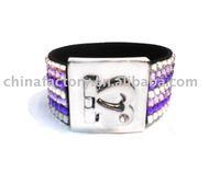 Heart jewelry alloy heart bangle plastic bracelet