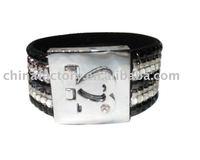 Latest Plastic bangle leather bangle
