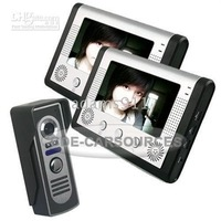 LCD 2 Monitors Home 2in1 Video Door phone Intercom 7""