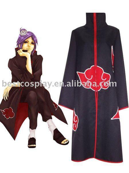 Naruto Akatsuki Konan Cosplay Costume(China (Mainland))