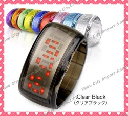Free Shipping High Light LED Watch,Fashion ODM Watch , LED Bracelet Watch ,28PCS/Lot(China (Mainland))