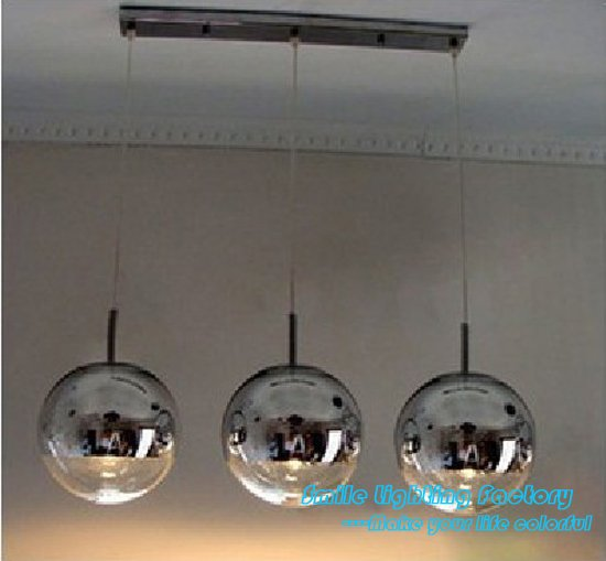 Free Shipping Hot Selling Wholesale 3 Lights FontanaArte Globo di Luce Lamp Modern Mirror Ball Pendant Light by TOM DIXON(China (Mainland))