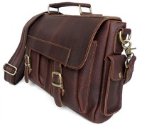 Wholesale Price Business Style Vintage Leather Style Men's Handbag Briefcase Messenger Bag # 6037