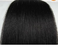 "24"" #1 100g jet black 100% real human hair clips in extensions real straight full head high quality low price"