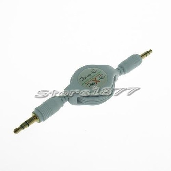 Retractable 3.5mm Audio Extension Cable For iPod s724 Brand new and free shipping