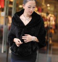 (#11-0101-1)free shipping fashion women's 100% genuine knitted mink fur shawl/scarf/fur jacket/retail/wholesale/natural fur