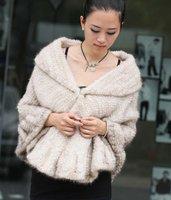 (#11-0101-2)free shipping fashion women's 100% genuine knitted mink fur shawl/scarf/fur jacket/retail/wholesale/natural fur