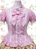 Cotton Pink Lace Short Sleeves Lolita Cotton Blouse