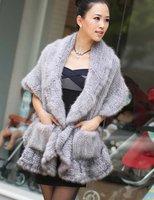 (#11-0105-3)free shipping fashion women's 100% genuine knitted mink fur shawl/scarf/fur jacket/retail/wholesale/natural fur