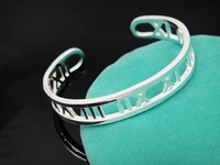 wholesale price atlas  bracelet/cuff 925 sterling silver gold plated free shipping