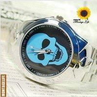 Free Shipping!Wholesale  Personalized Skeleton watch,Fashion Ceramic Mirror watch,men's watch