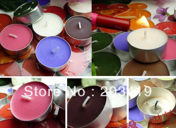 free shipping wholesale Candles Tea light home decoration aluminium cup wax smokeless wedding(China (Mainland))