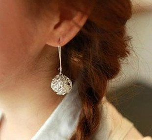 Free shipping ,stylish earings coil winding 925 sterling siliver
