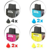 10 Ink cartridges for  LC41  LC900 DCP-110C / DCP-110 / DCP115C / DCP-120 / DCP-310C MFC-210C MFC-425 MFC-210 /MFC-215 MFC-410C