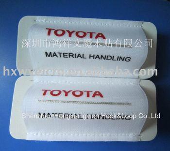 Free Shipping 57X136mm 100% Nylon Velcro ski strap+2 color custom logo