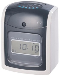 Time Recorder T-7,Big LCD Clock,Perfect design,good for office,Intelligent circuit,Full auto operation.(China (Mainland))