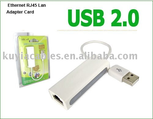 Free Shipping +5pcs/lot+Good quality USB 2.0 Ethernet RJ45 Lan Adapter Card for XP Vista New with Driver and retail package(China (Mainland))