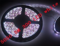 5050 5M White Flash 300 SMD LED Strip Light